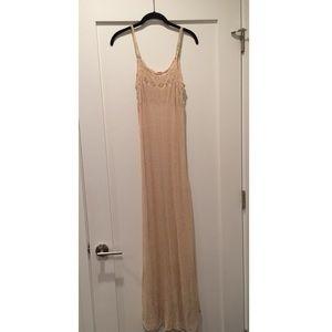 Sheer knit maxi dress